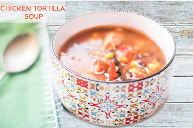 Chicken Tortilla Soup Recipe in the instant pot