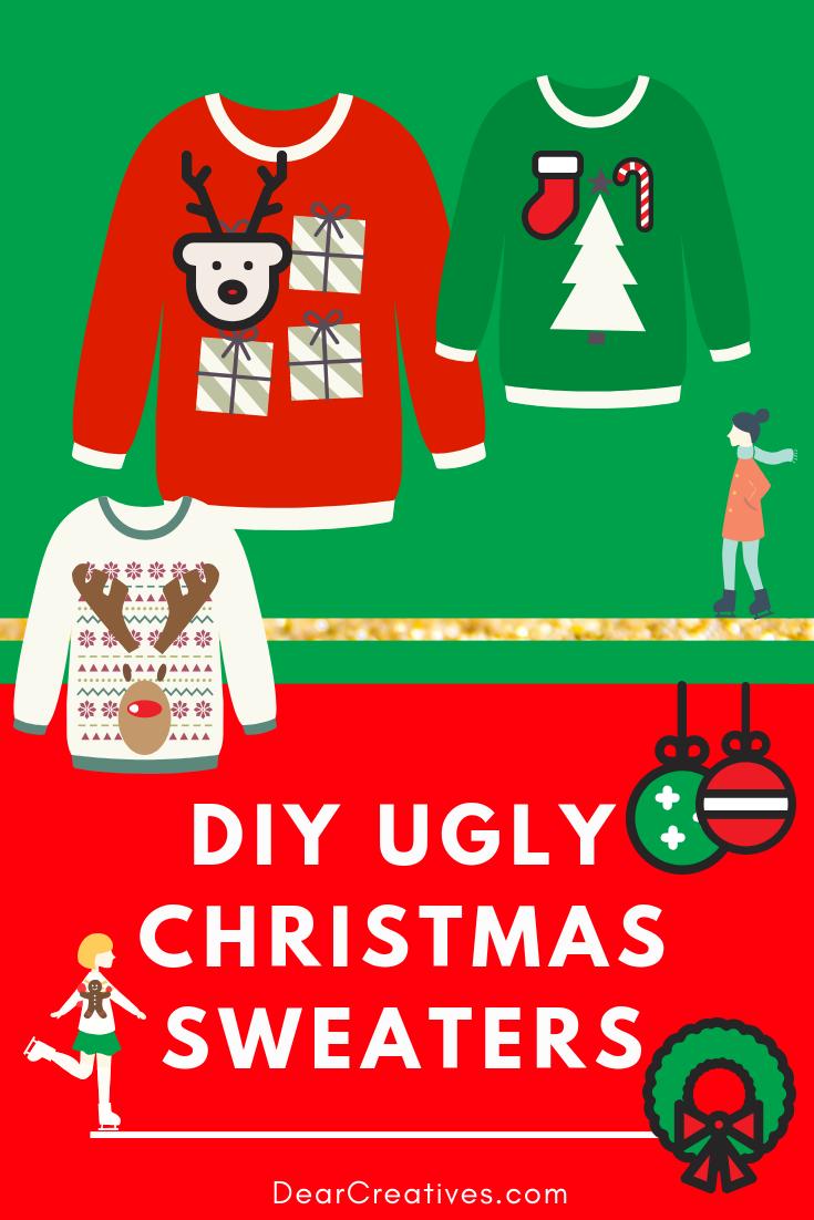 DIY Ugly Christmas Sweater Fun and Festive Christmas Idea