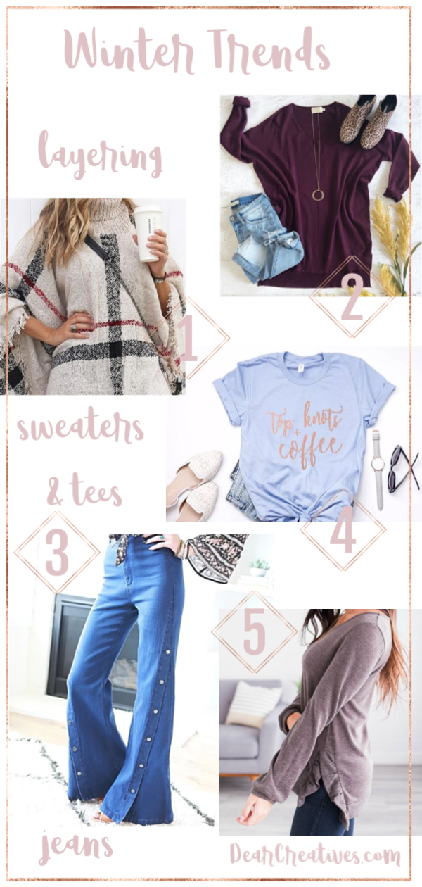 Winter Outfits - This seasons fashions for layering and styling to create the looks you love. Cute winter outfits. With plenty of picks for coats, booties and layering to keep you warm. #winterfashions #womensfashions #cute #cozy #layering #styles #fashion #women #winteroutfits #winteroutfitideas #everdayfashions #outfitideas DearCreatives.com