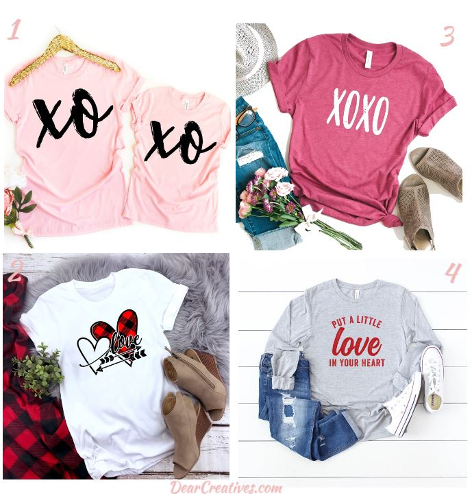Cute Valentine's Day Outfits- Tee Shirts and Jeans-DearCreatives.com