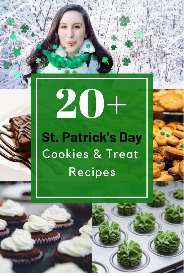St. Patrick's Day Treat Recipes and St. Patrick's Day Cookies Recipes #stpatricksdayrecipes #stpatricksday #treatrecipes #cookiesrecipes #stpatricksdaycookies #stpatricksdaytreats #stpatricksdayideas DearCreatives.com