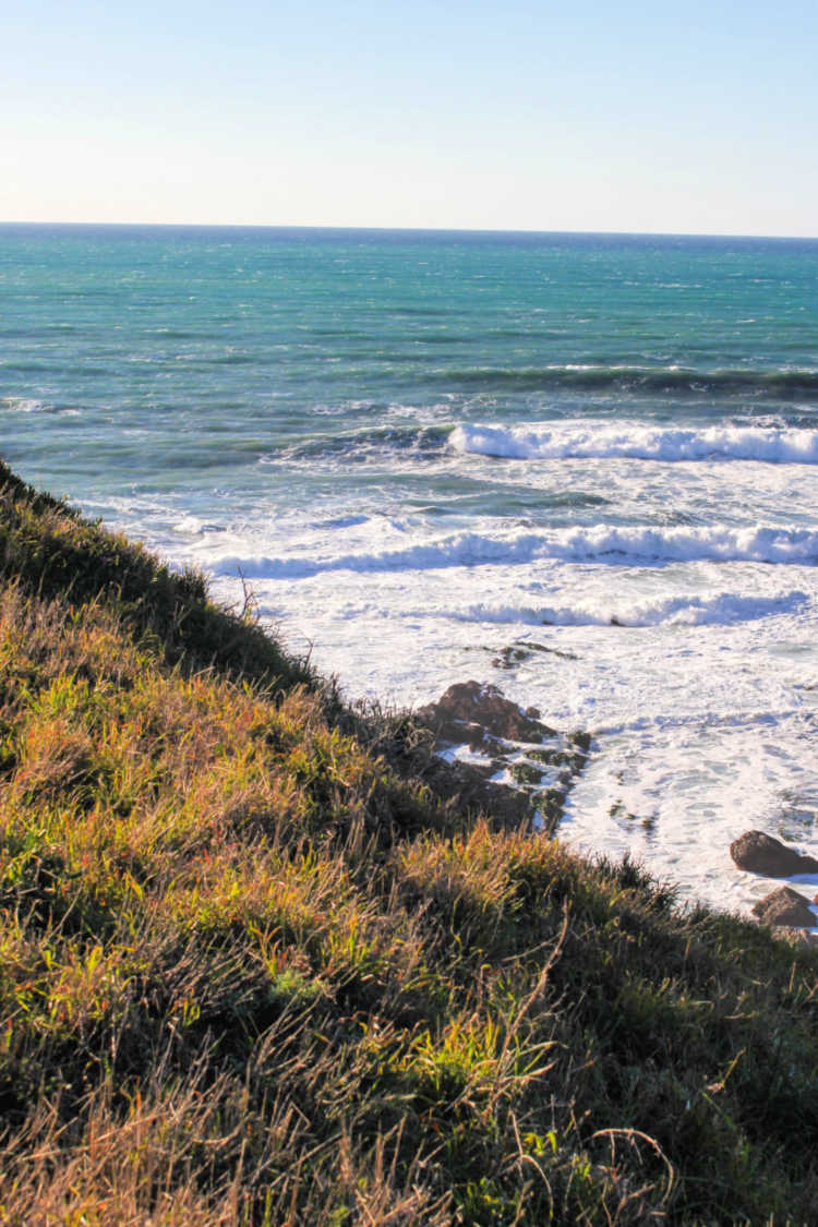 View of the ocean from the top of a mountain SLO © 2019 Theresa Huse DearCreatives.com