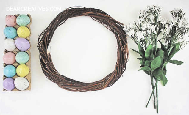 How to make an Easter Egg Wreath Step 1 Gather your Supplies How to at DearCreatives.com
