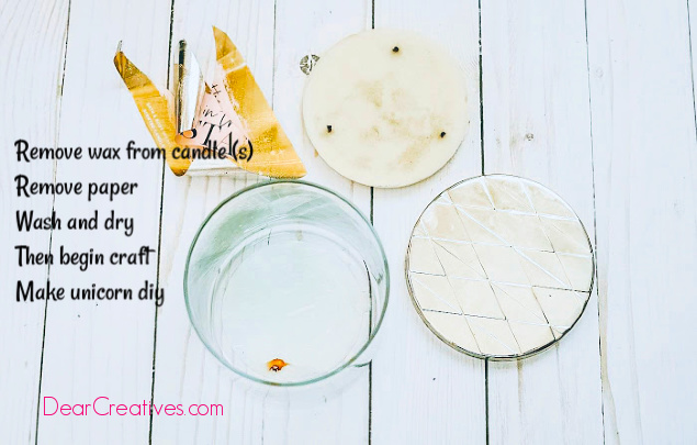 How to remove candle wax from a jar. Easy hack so you can reuse jar in crafts. 3 different methods to use. DearCreatives.com