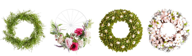 spring wreaths to hang on your front door or in your home. DearCreatives.com