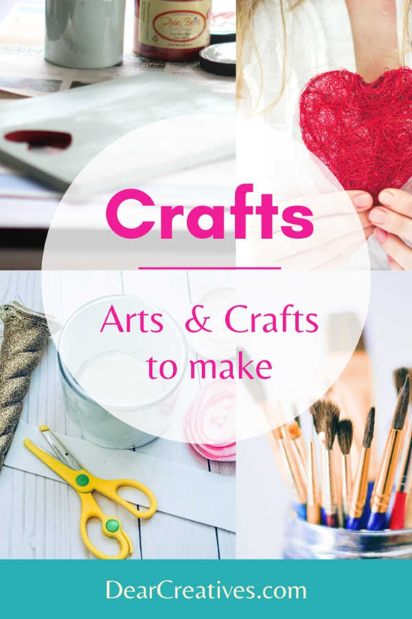 Crafts - Are you looking for easy crafts? Crafts to make? Find so many diy crafts all in one spot at DearCreatives.com #crafts #diycrafts #craftstomake #projects #freebies