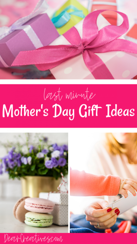 Mother's Day Gifts Amazon- Plan ahead or use these gift guides for last minute gifts for mom. Find so many awesome Mother's Day ideas and gift lists. You can't pass up these last minute gift ideas for mom. - DearCreatives.com #mothersdaygifts #giftideas #lastminute #giftsformom #giftsforher