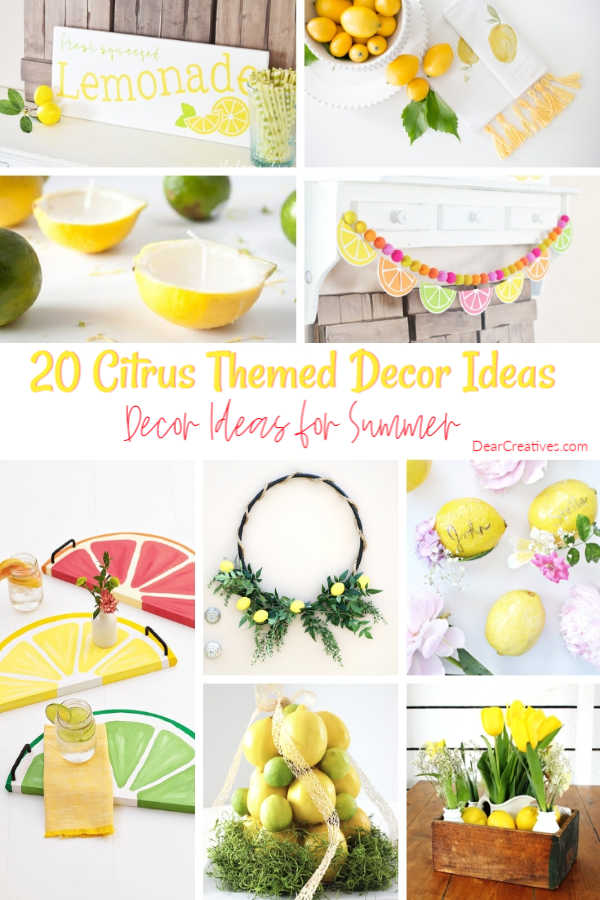 Lemon Decor Ideas + Lemon DIY Crafts For Home Decor