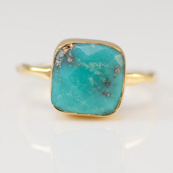 Turquoise Ring Gold