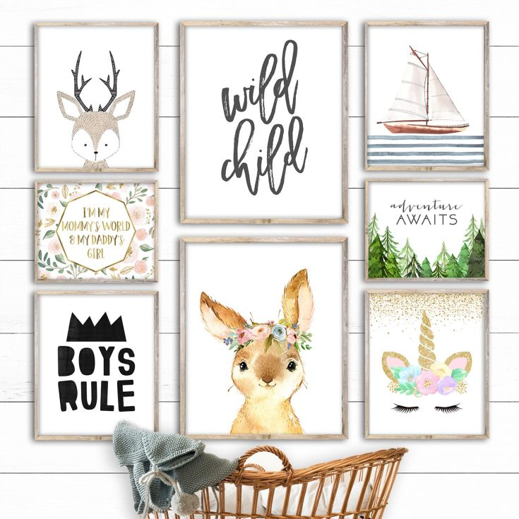 Baby Room and Kids Room Prints in 2 Sizes