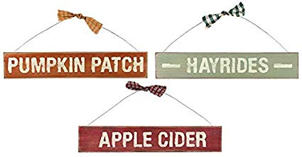 Country Hanging Signs For Fall