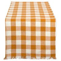 Checkered Pumpkin Spice Table Runner