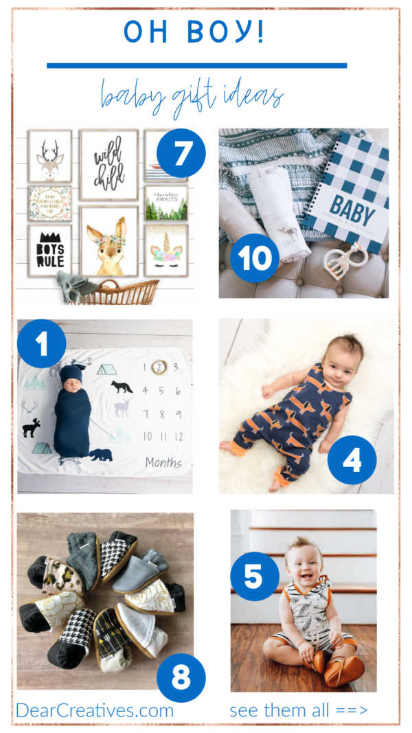 """Baby Boy Gift Ideas """"Oh Boy!"""" These Are Adorable!"""