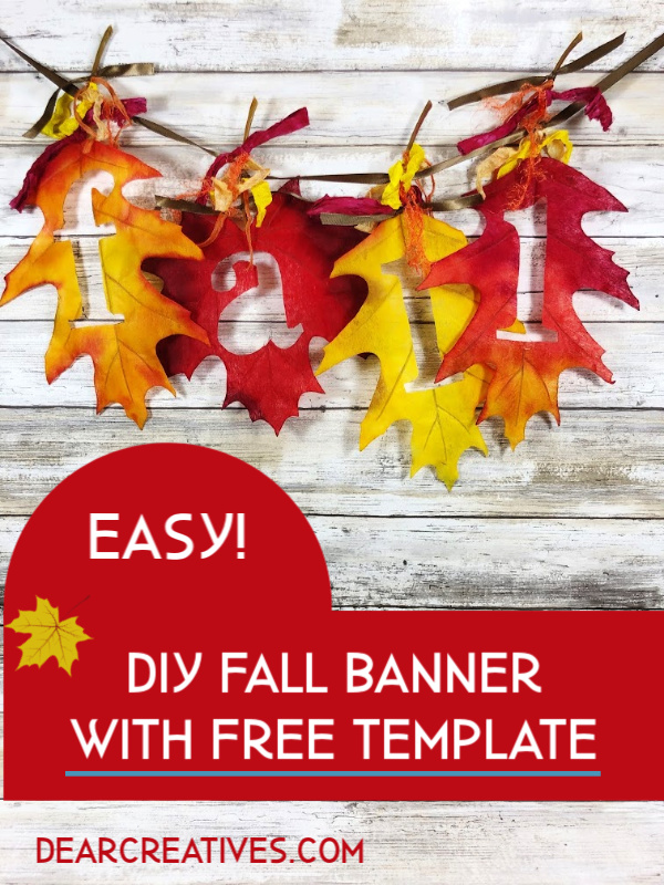 Fall Banner - How to make a simple fall banner. DearCreatives.com