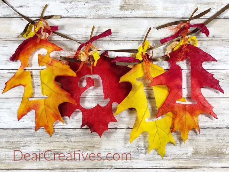 Fall leaf banner - how to make a simple banner DearCreatives.com