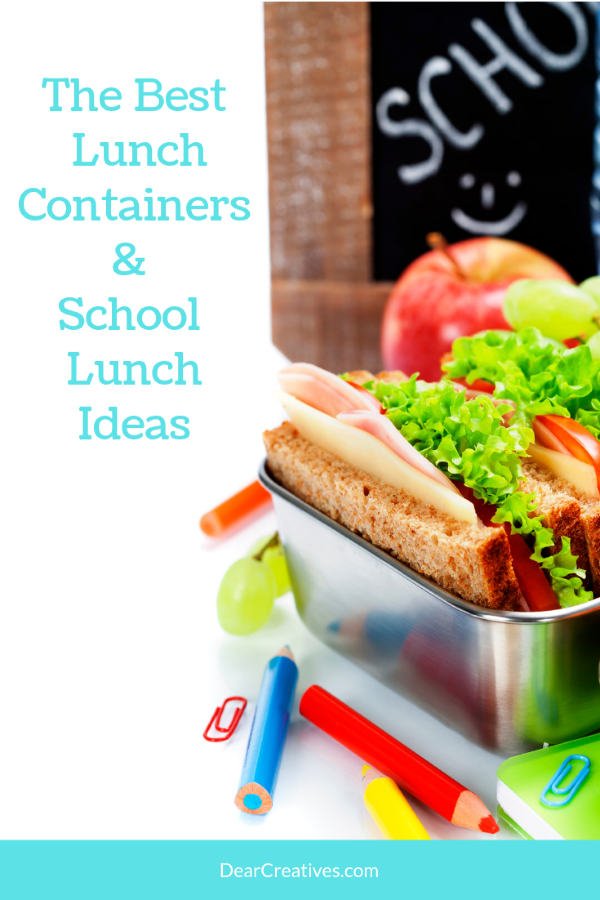 The Best Lunch Containers and must see School Lunch Ideas - DearCreatives.com #backtoschool #lunchcontainers #lunchbags #lunchideas #mealplanninglunch #lunchonthego #schoollunchideas