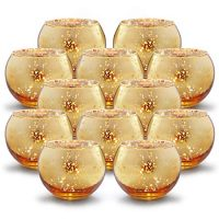 Set of 12 Mercury Glass Votives