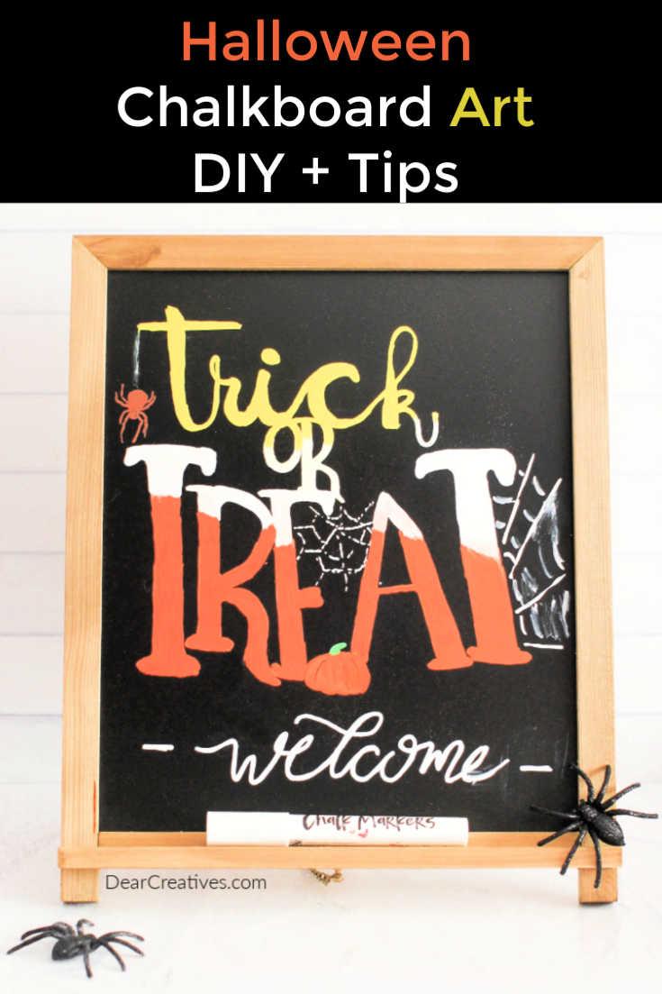 """Halloween Chalkboard Art – """"Trick or Treat"""""""