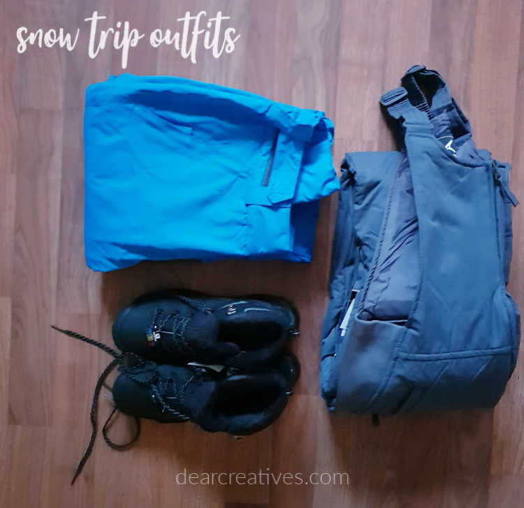 Winter clothes for a snow trip - ski trip Outfit ideas for the snow and what to pack for the snow. DearCreatives.com