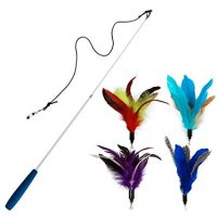 Feather Cat Teaser Toys - Cat Wand