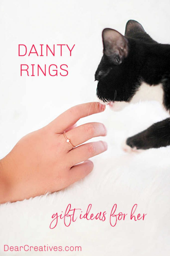 Jewelry rings gift guide - Wear them solo or as stackable rings. These rings will look good on her fingers, which make them the perfect jewelry ring for any occasion... DearCreatives.com