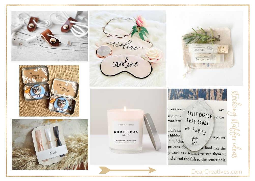 stocking stuffers - Christmas stocking stuffer ideas - DearCreatives.com
