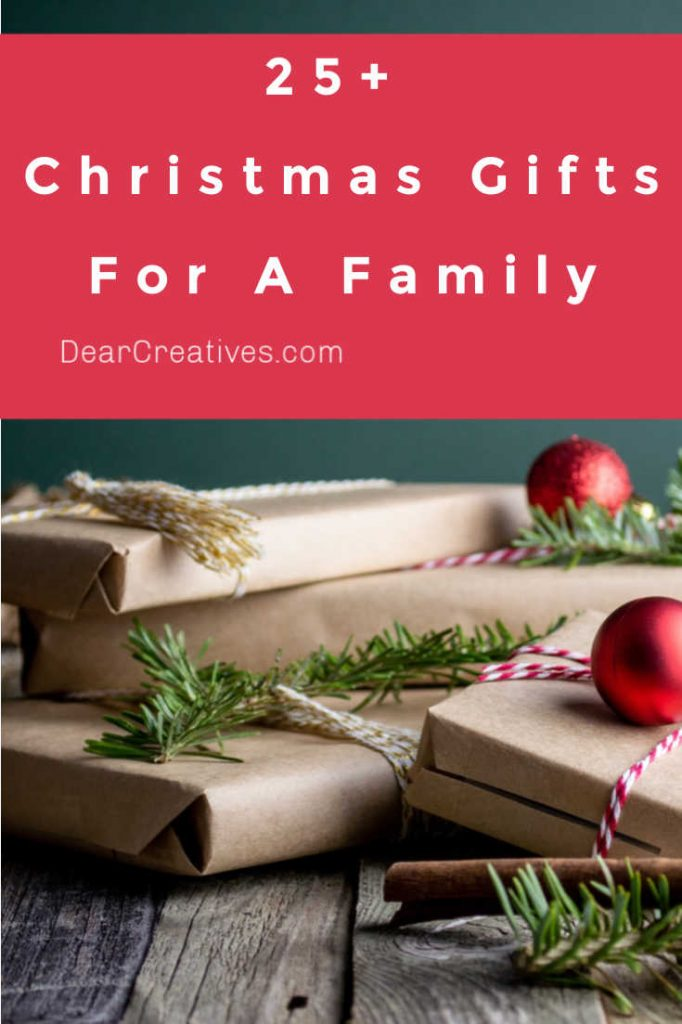25+ Christmas Gifts For A Family - Fun, festive, gifts the entire family will enjoy! The Best Last-Minute Christmas gifts ideas for a family. DearCreatives.com