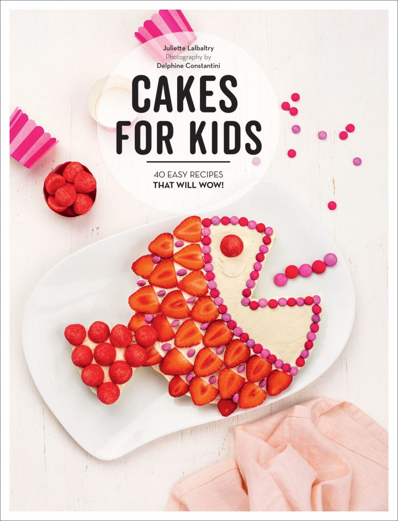 Cakes for Kids - CookBook Cover. This is a cookbook that is perfect for kids that love to bake! With 40 fun recipes, and instructions they will have fun making these in the kitchen with you or on their own with supervision. Find out more about this baking cookbook for kids! DearCreatives.com