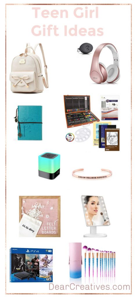 Teen Girl Gifts - If you are looking for ideas to give your teen girl for Christmas, the holidays or a birthday. See these gift lists of teen girl gift ideas! DearCreatives.com