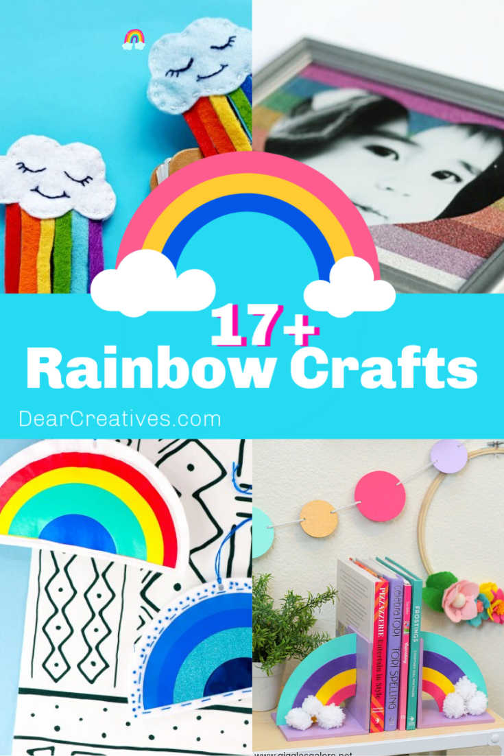 17+ Rainbow Crafts To Make - Rainbow Crafts for Adults, Teens and Kids! See all these fun and easy craft ideas for rainbow crafts! DearCreatives.com