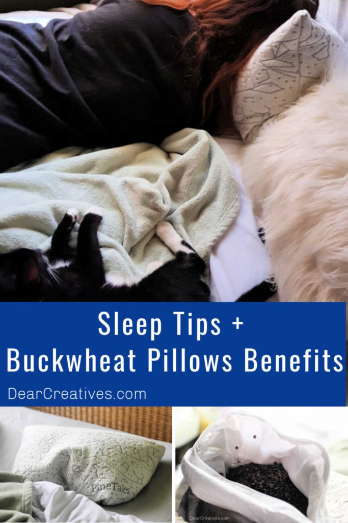 Sleep Tips + Buckwheat Pillows Review and the benefits of sleeping with a buckwheat pillow. DearCreatives.com