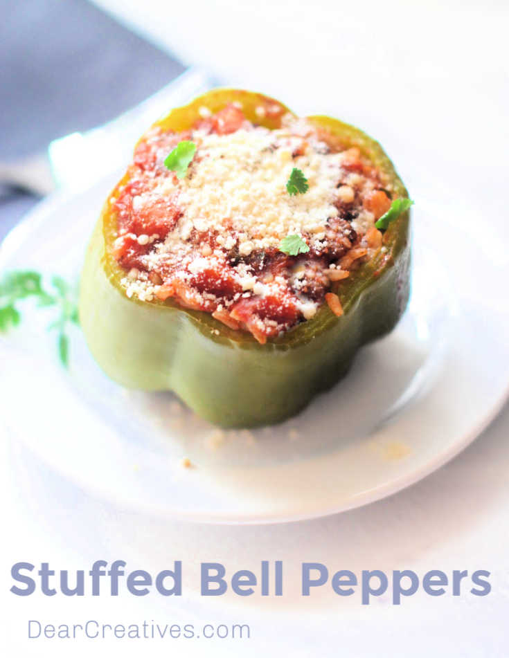Stuffed Bell Peppers Recipe - See step by step how to make stuffed bell peppers - recipe © DearCreatives.com