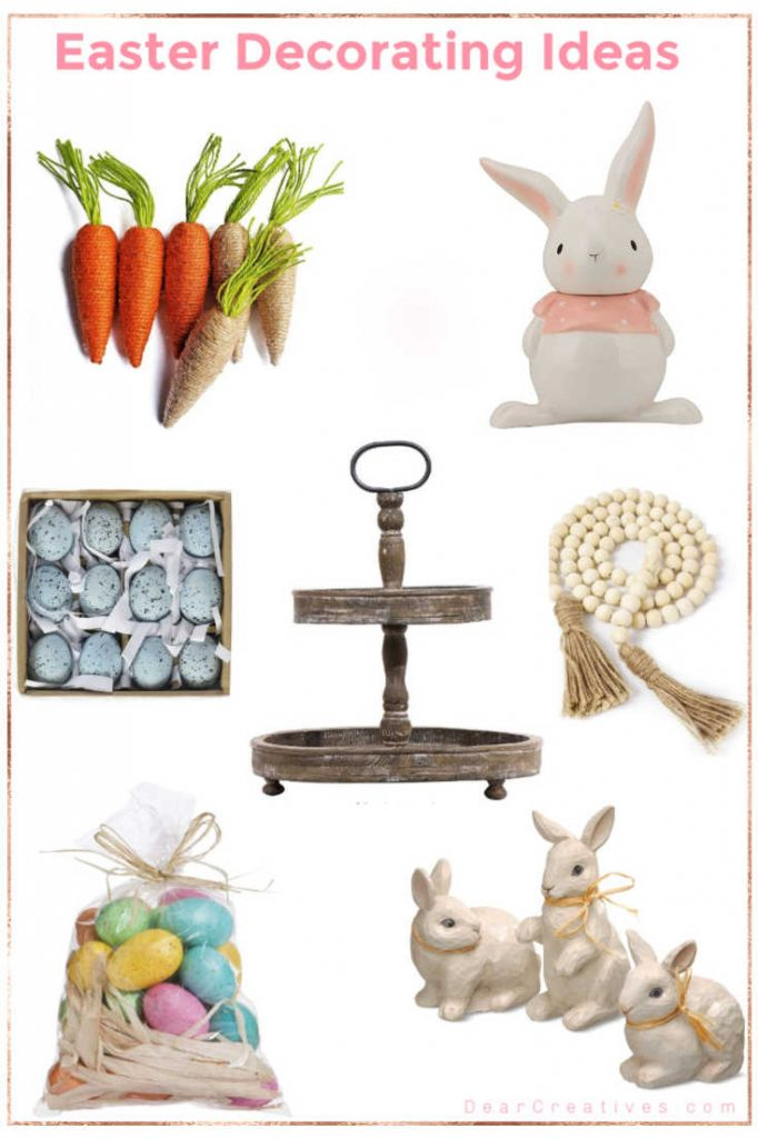 Easter Decorating Ideas - Easy ways to add Easter decor to your spring decor. DearCreatives.com #decorating #homedecorating #spring #easterdecoratingideas #springdecorating #homedecorideas