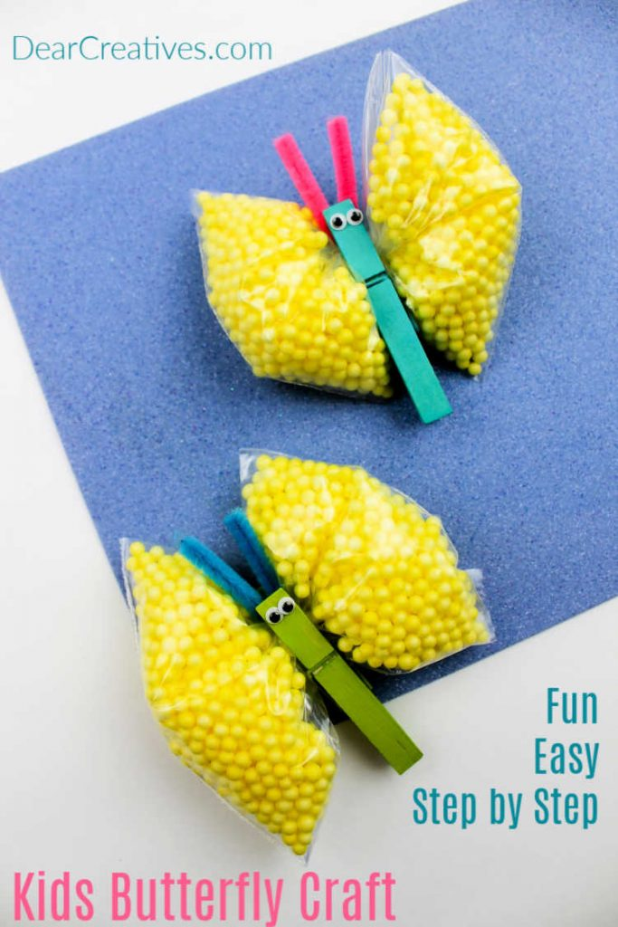 Kids Butterfly Craft - This is a fun kids crafts to make, it's an easy craft for kids. - DearCreatives.com