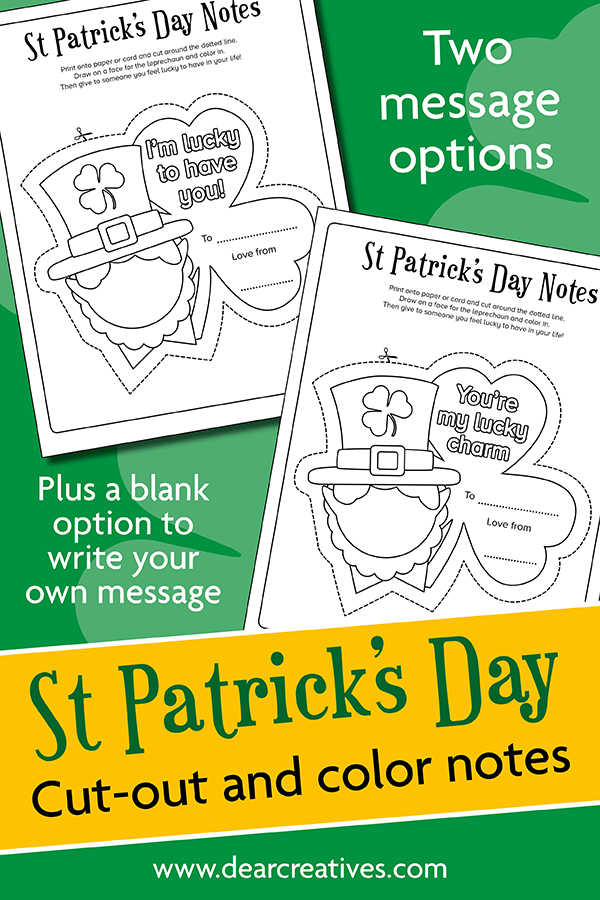 3 St. Patrick's Day Coloring Pages (Leprechaun)