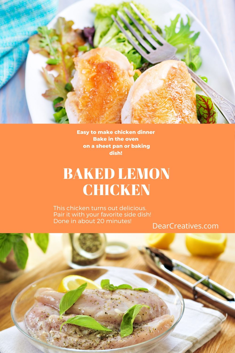 Baked Lemon Chicken – Easy Chicken Recipes