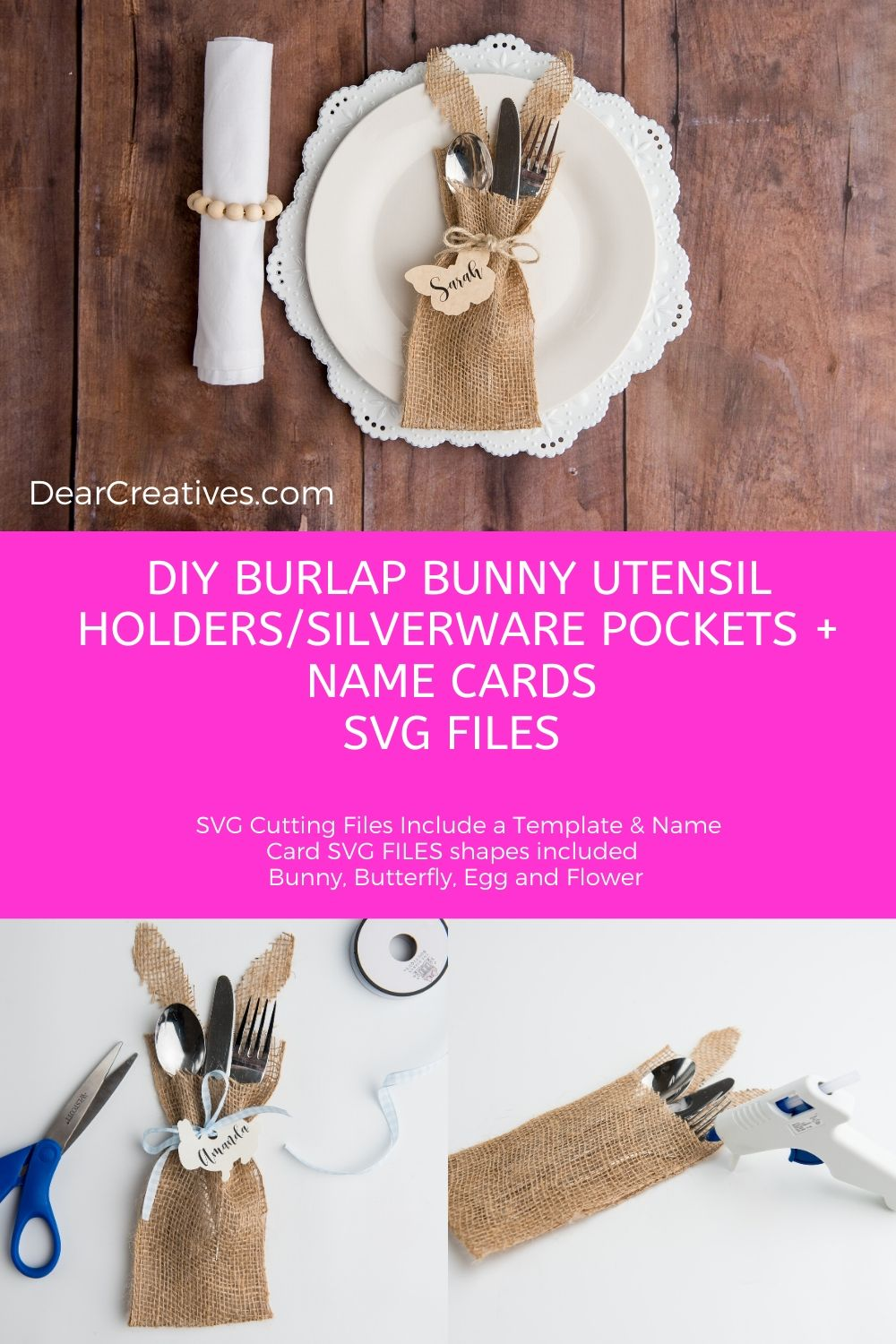 DIY Utensil Holders And Name Tags + SVG Cut Files