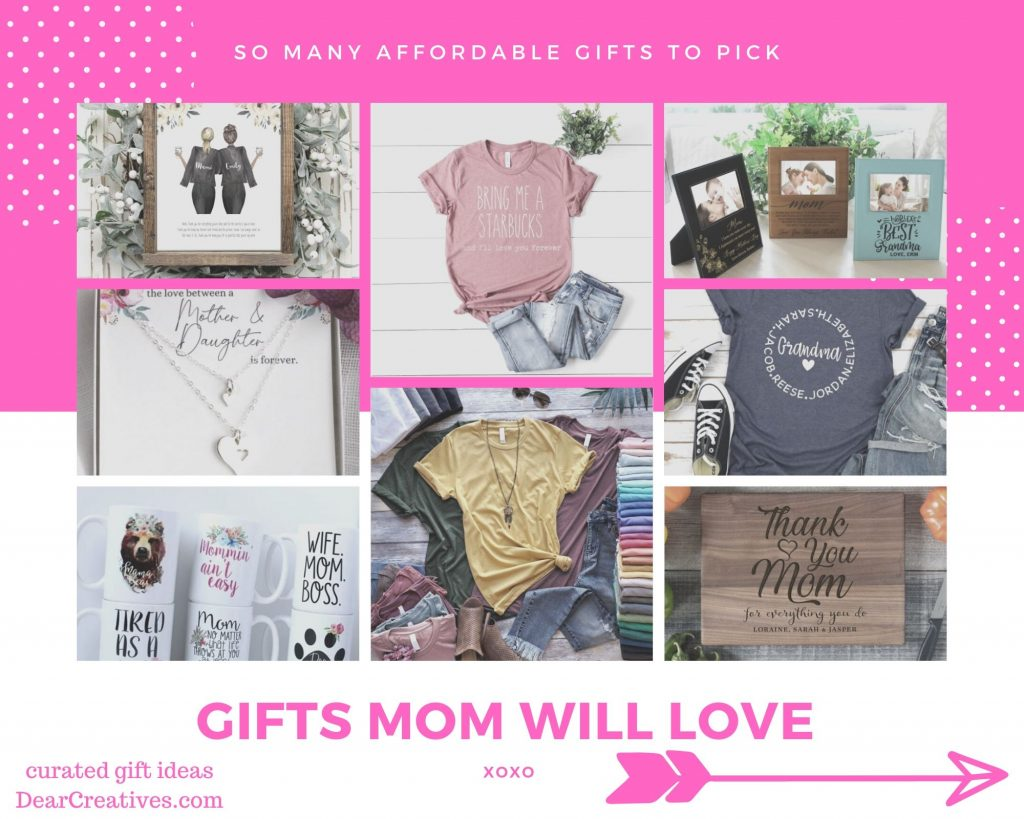Mother's Day gift ideas -gifts for mom, gifts for grandma - DearCReatives.com