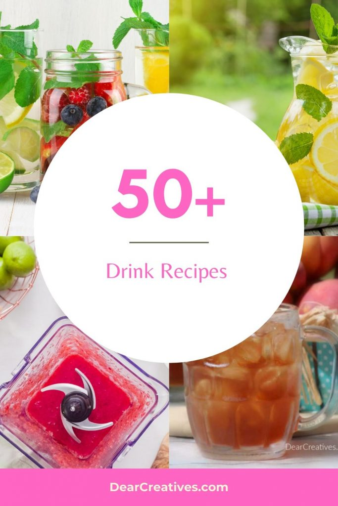 Drink Recipes - Non-Alcoholic and Alcoholic drinks to make at home! Easy drink recipes for sipping on any day of the week, party drinks and drinks for celebrations. DearCreatives.com
