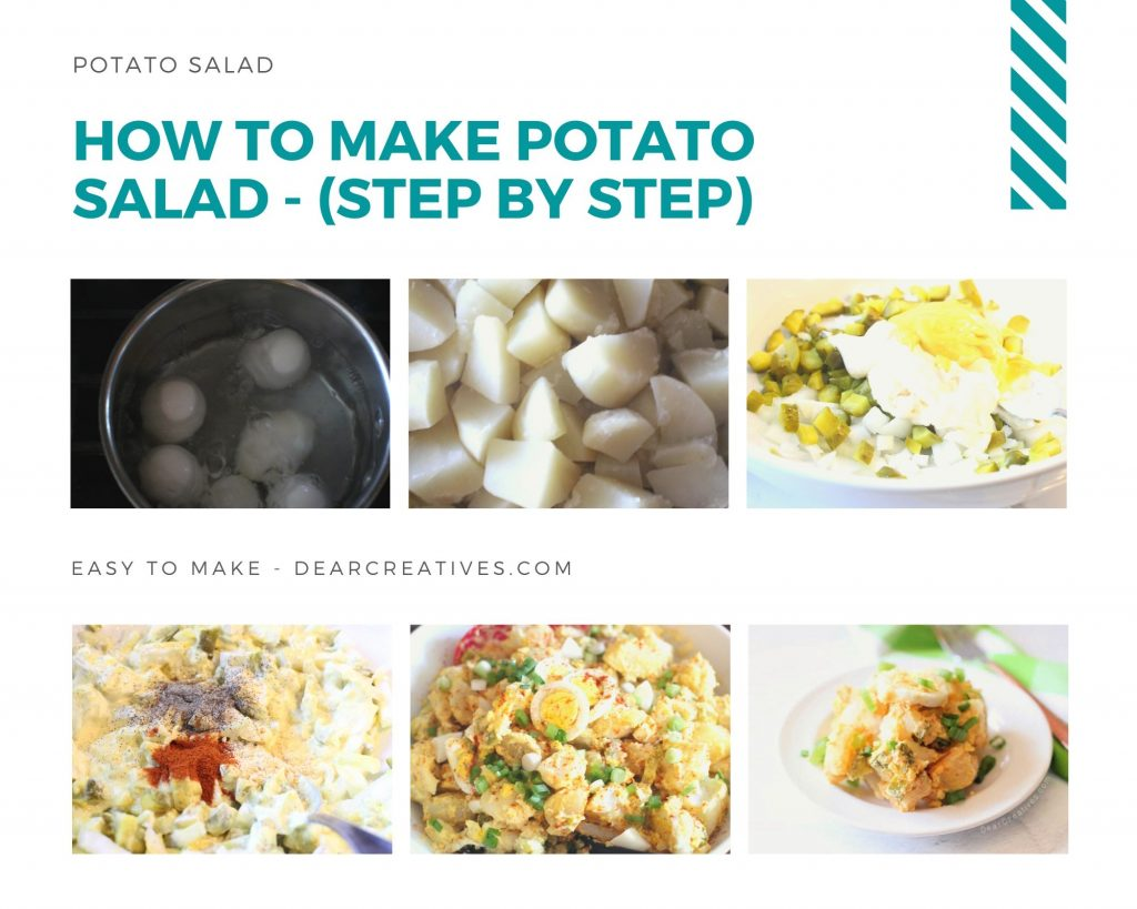 How To Make Potato Salad - Recipe for the best potato salad plus step by step directions at DearCreatives.com