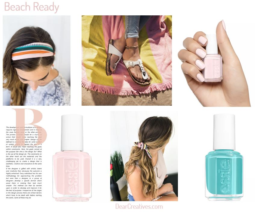 Be ready for the beach with these beauty items and list of must haves for the beach. DearCreatives.com