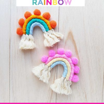 Macrame Rainbow made from rope wrapped yarn... DIY at DearCreatives.com
